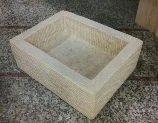 Lavabo macizo rectangular